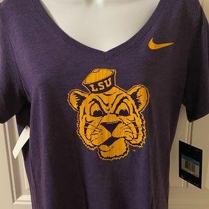 LSU Triblend Nike v-neck shirt